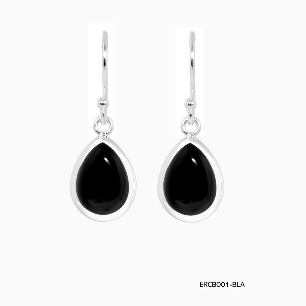 36335691e BLACK ONYX TEARDROP EARRINGS - EARRINGS