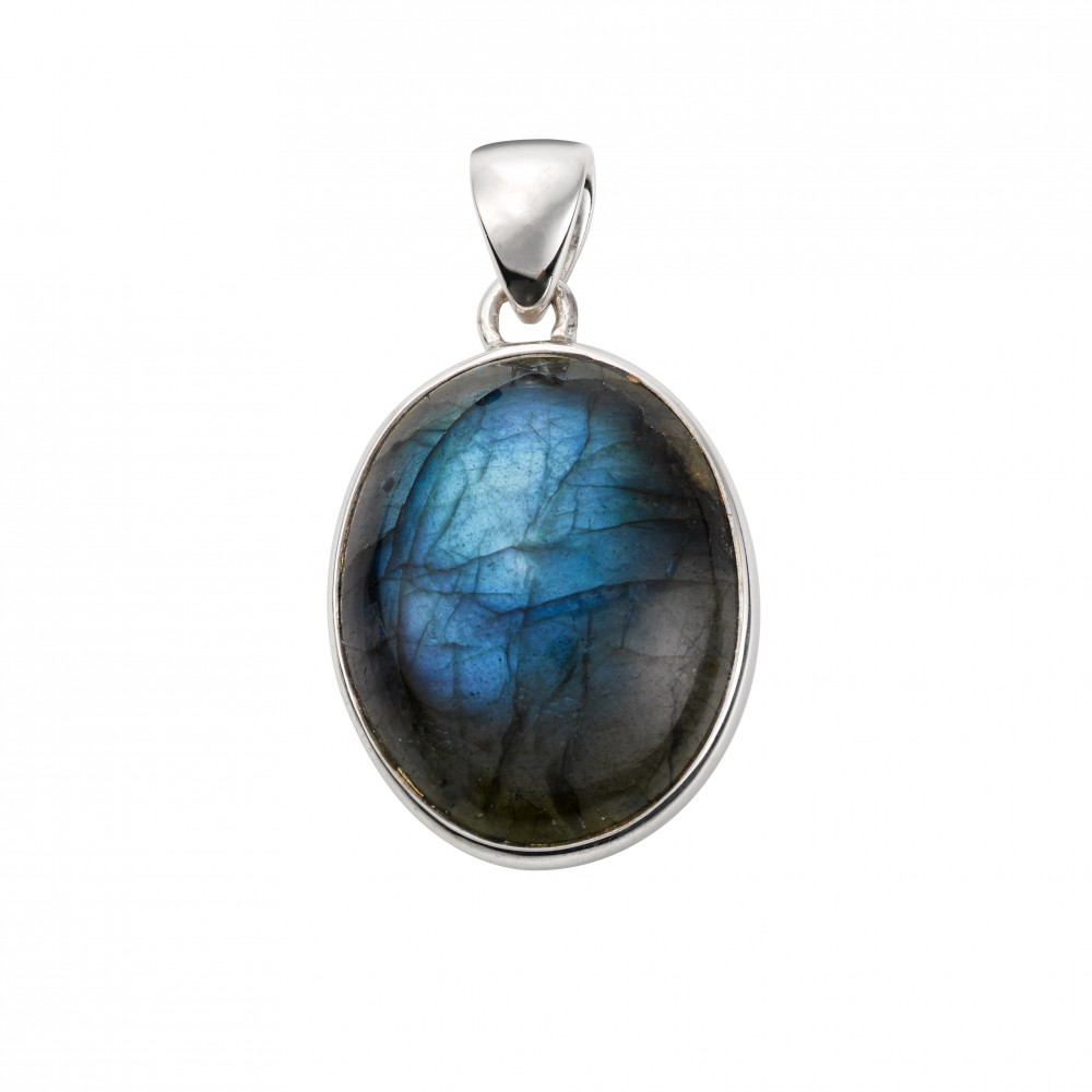 pendant item penda labradorite wire elven wrap blue with moonlight